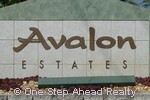 sign for Avalon Estates
