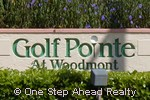 sign for Golf Pointe