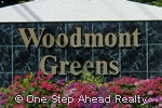 sign for Woodmont Greens